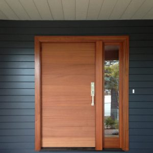 Entry wooden door with Sidelight